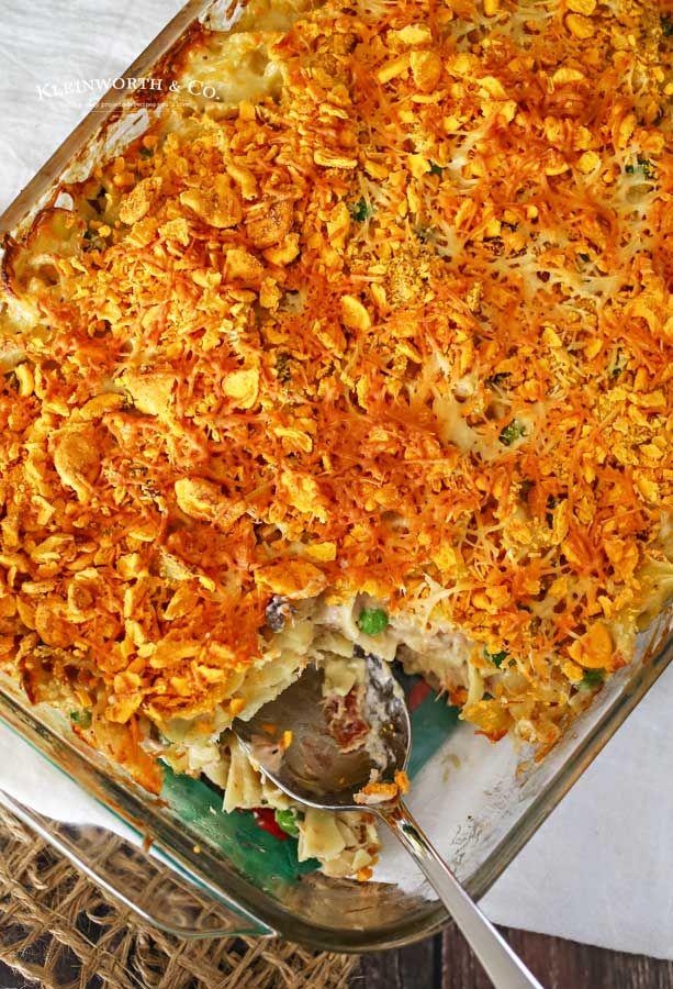 tuna noodle casserole is an easy dinner idea the whole