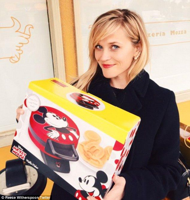 'Um...Best #SecretSanta gift Ever??????' Reese recently shared a snap holding a Mickey Mou...