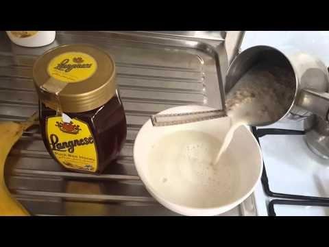 طريقة عمل الشوفان مع الحليب و الموز و العسل Food Dairy Beverages