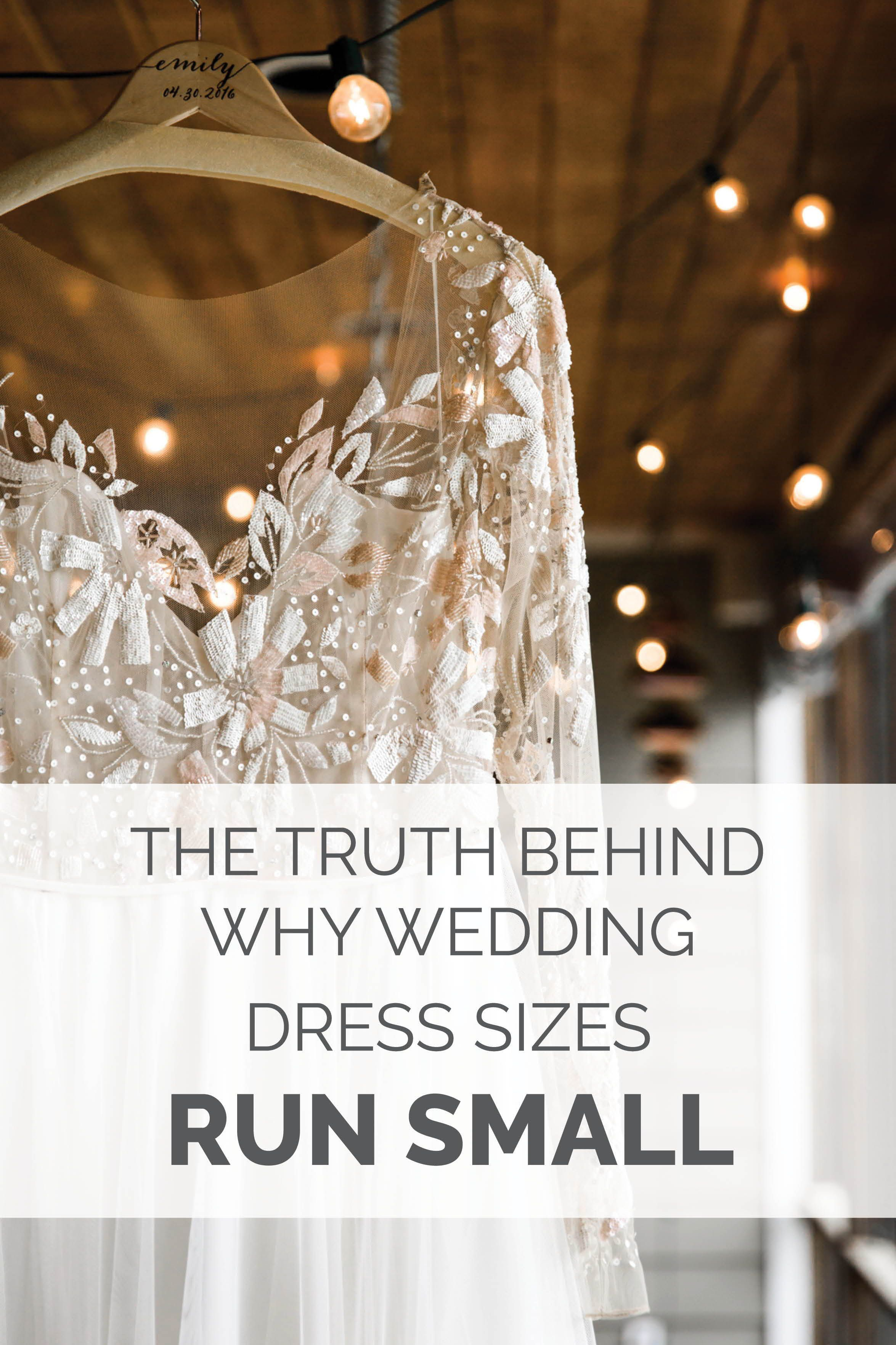 Small wedding dresses  The Truth Behind Why Wedding Dress Sizes Run Small  Wedding