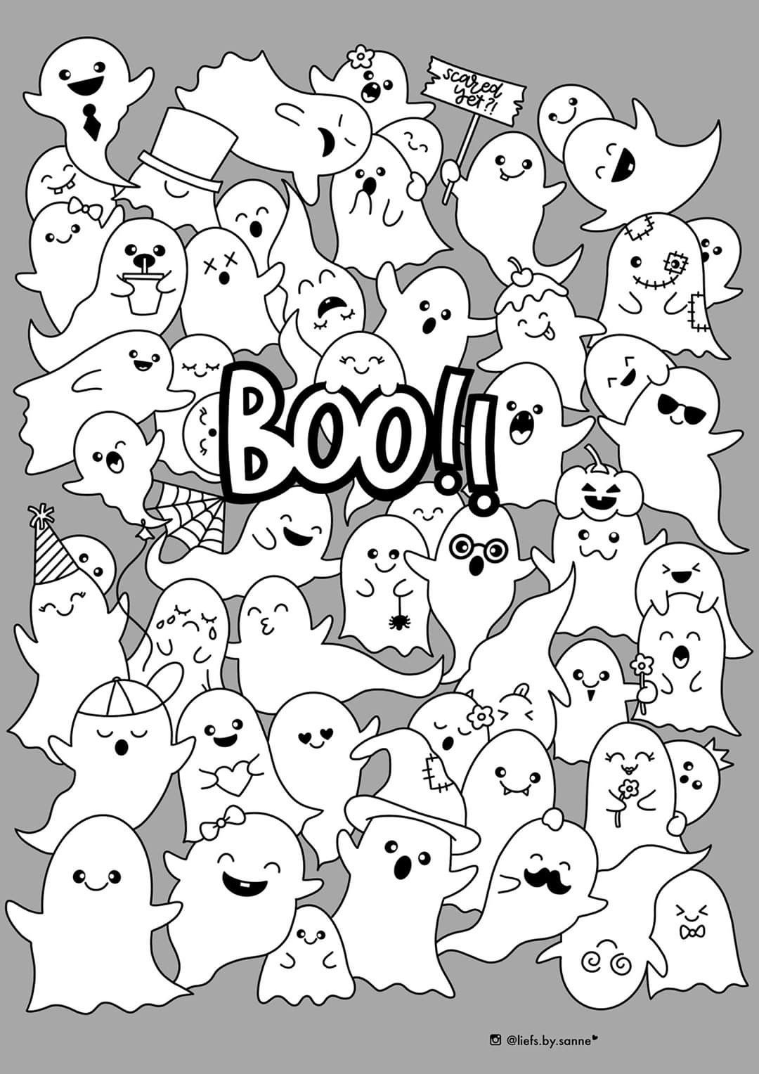 Boo Kleurplaat Thema Kleurplaten Monsters