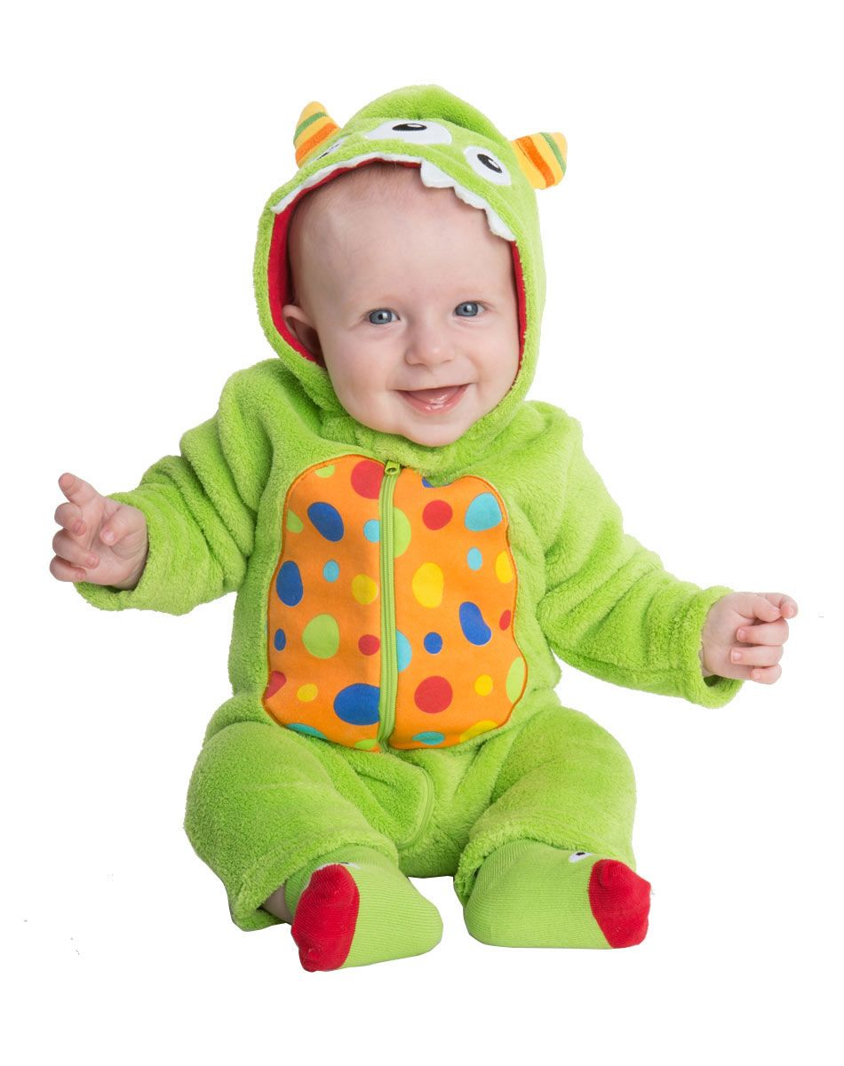 green monster baby costume exclusively at spirit halloween bundle up your little babe in this - Baby Monster Halloween Costumes