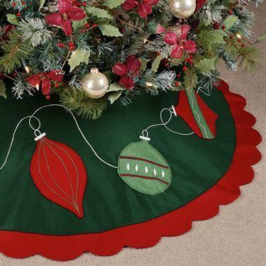 Ornaments Tree Skirt Green