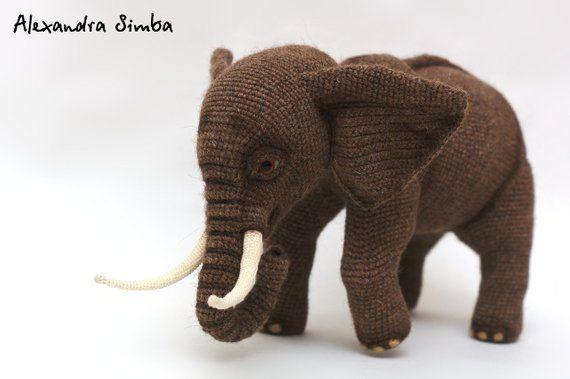 0001 Crochet Pattern - Elephant - Pdf file by Alexandra ...