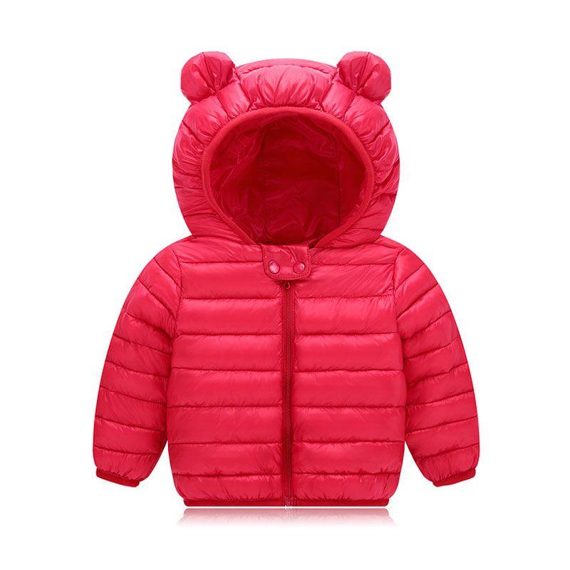 9feb27b4350a Baby Girls Jacket 2018 Winter Jacket For Boys Jackets Kids Hooded ...