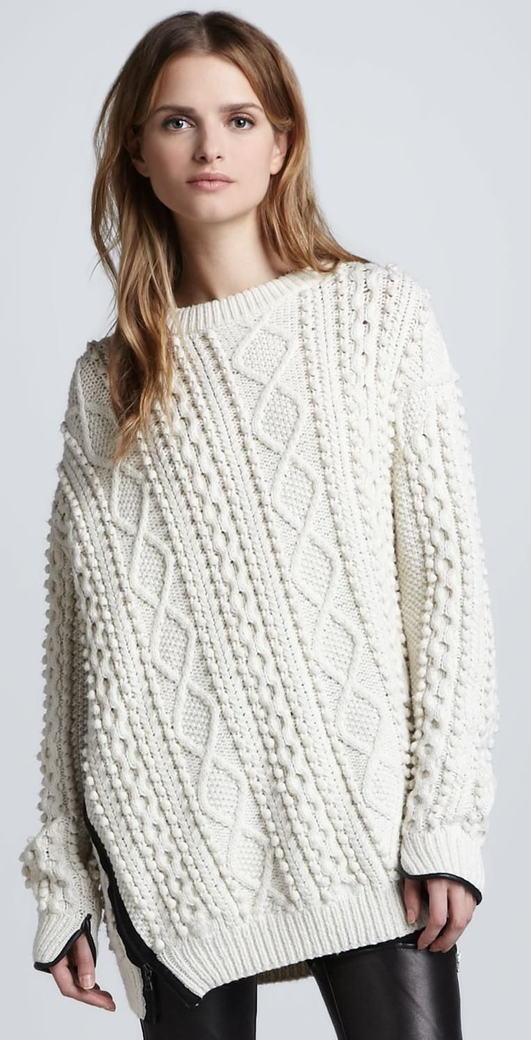 phillip-lim-oversized-cable-knit-pullover-ivory | 3A - sweaters ...