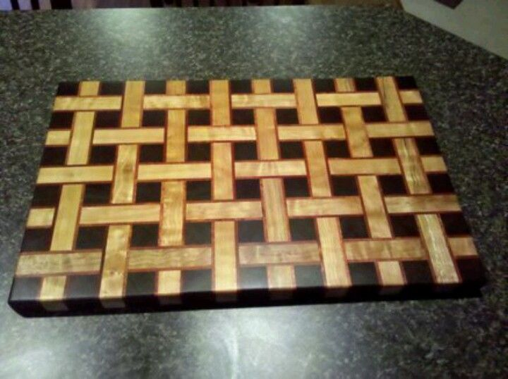 Basket Weave Butcher Block Wood Projects Pinterest