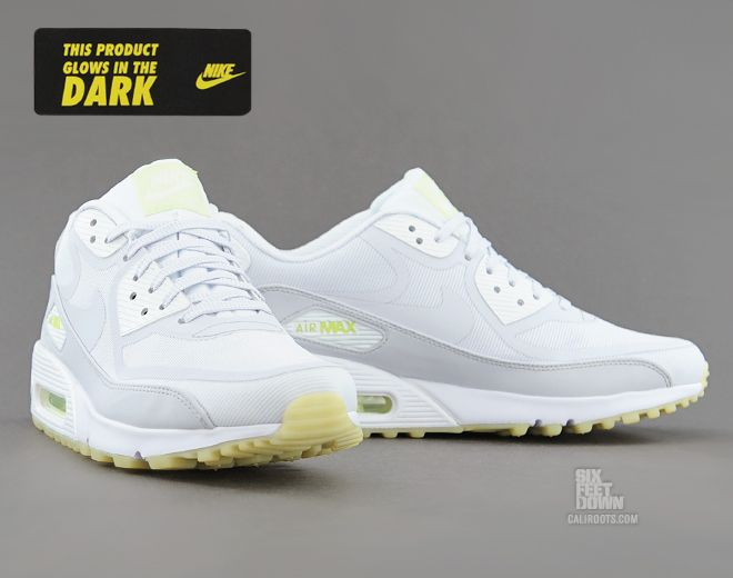 sports shoes 5d21e ac9e5 Nike Air Max 90 CMFT PRM in white geyser grey lab green glow