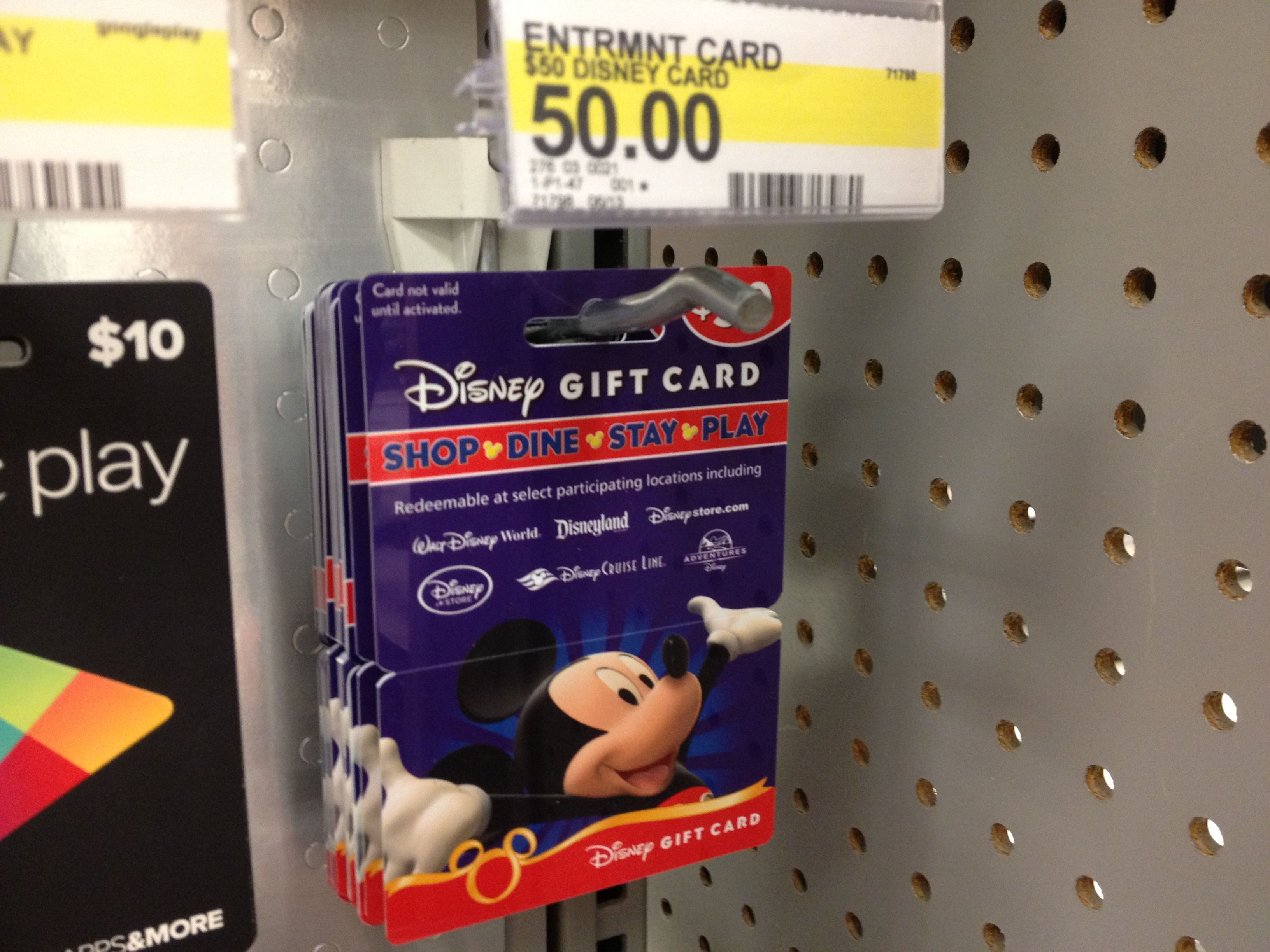 Get discounted disney gift cards with target red card