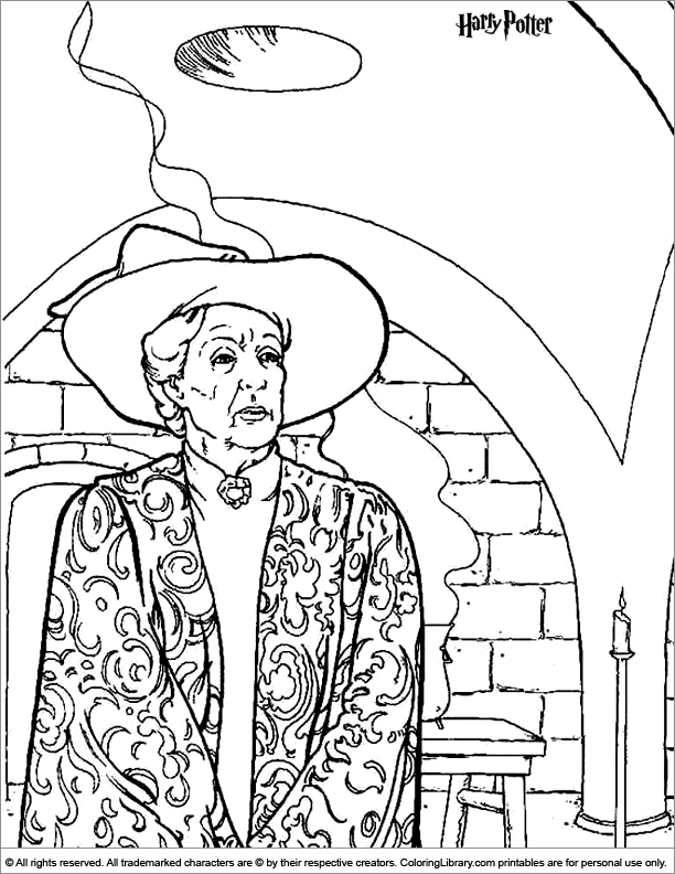 Harry Potter coloring page | Harry Potter Birthday | Pinterest
