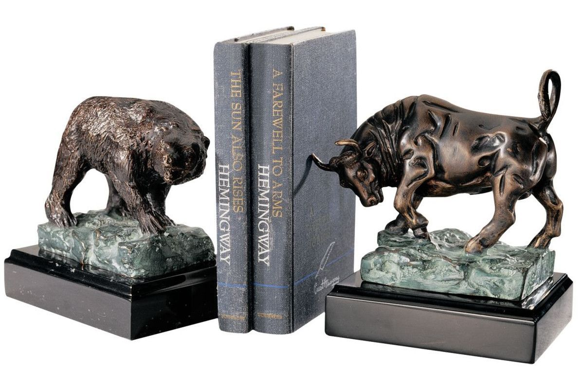 The bull and bear of wall street book ends office decor the bull and bear of wall street book ends the bullwall streetoffice decor bears amipublicfo Choice Image