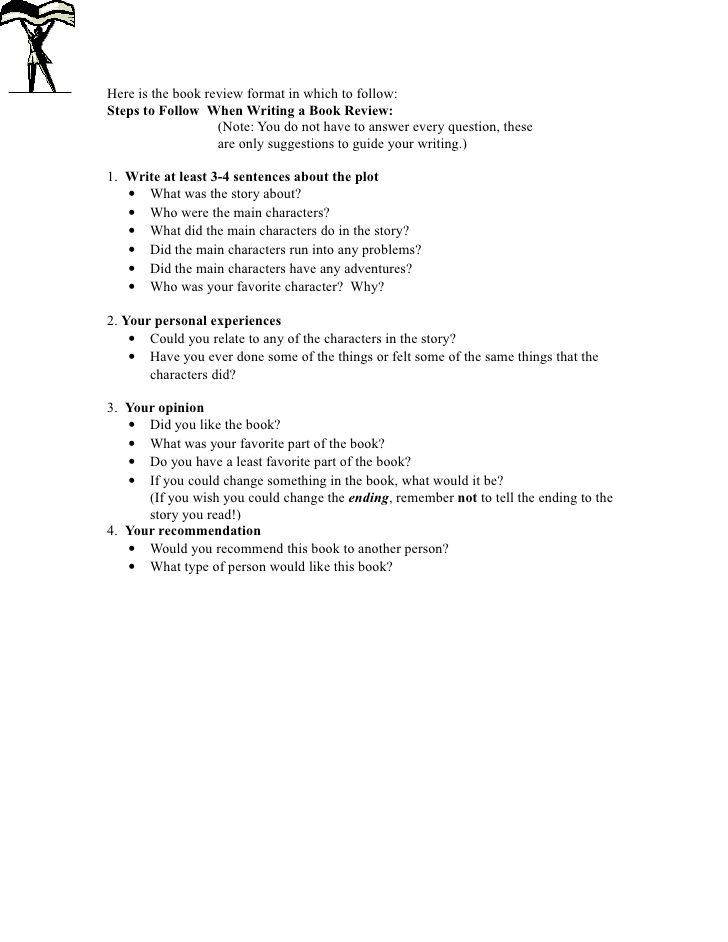 book-review-format by Preston Hall Middle School via Slideshare - high school book report outline