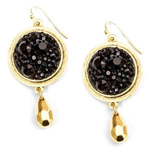 Black Chaton Gold Bezel Earrings | Fusion Beads Inspiration Gallery