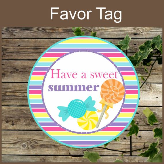 photo regarding Have a Sweet Summer Printable identified as Printable Want Tag, Fast Obtain, Incorporate a Cute Summer months