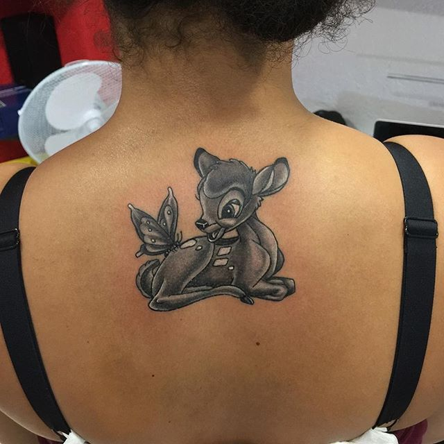 My work Bambi #inkjecta #mywork #tattoo #tat2 #ink #disney #disneytattoo #blackandwhite #blackandwhitetattoo #bambi #bambitattoo #germany #germanytattoo #deutschland #deutschlandtattoo #augsburg #art #artist #tattooart #tattooartist #ilovemyjob #firsttattoo #zuperblack #intense