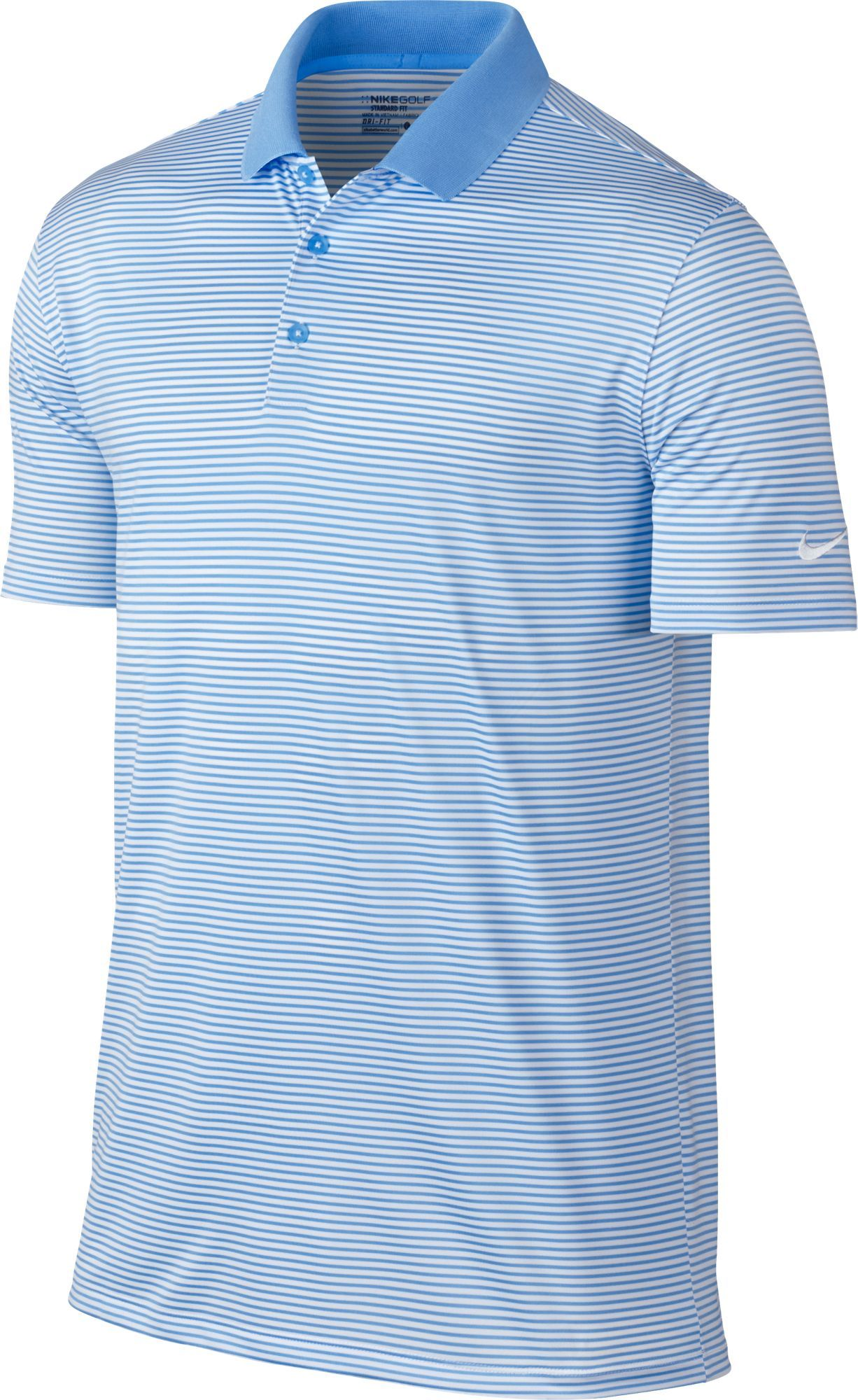 5a5694305d405 Nike Men's Dri-FIT Victory Mini Stripe Golf Polo | Products in 2019 ...