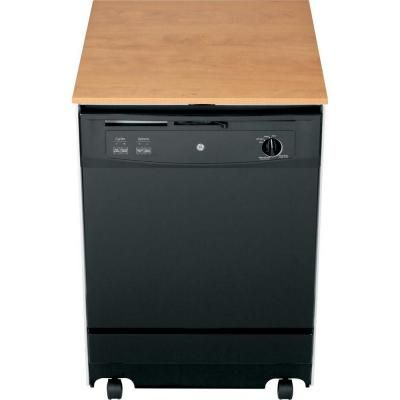 Ge Convertible Portable Dishwasher In Black Gsc3500dbb At The Home