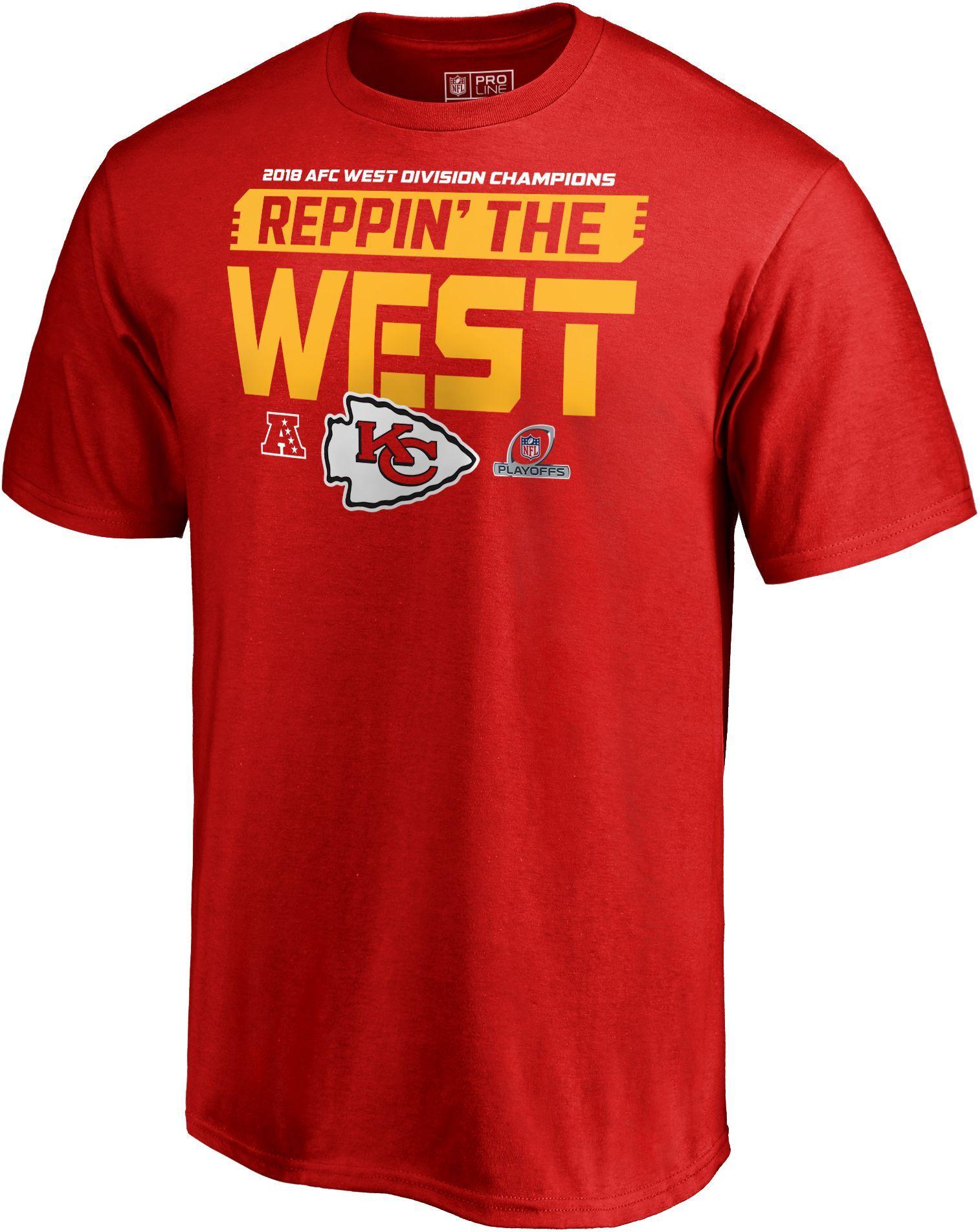 8b5ad709 Men's Kansas City AFC West Division Champions T-Shirt, Size: Medium, Red