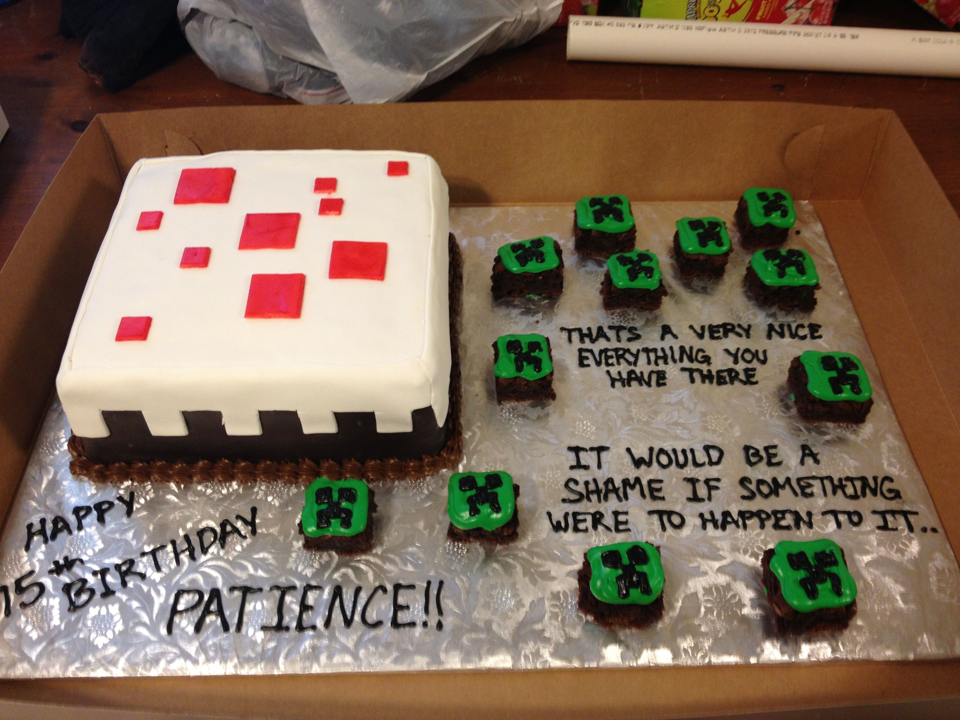 Pin by Angela Herring on My cakes and cupcakes!  Minecraft cake