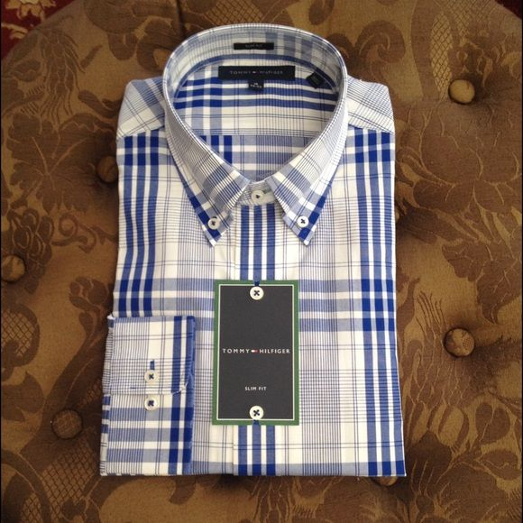 Tommy Hilfiger man collar shirt Tommy Hilfiger man collar shirt, brand new! Please see the pics for size, a great gift for the person you love  Tommy Hilfiger Tops