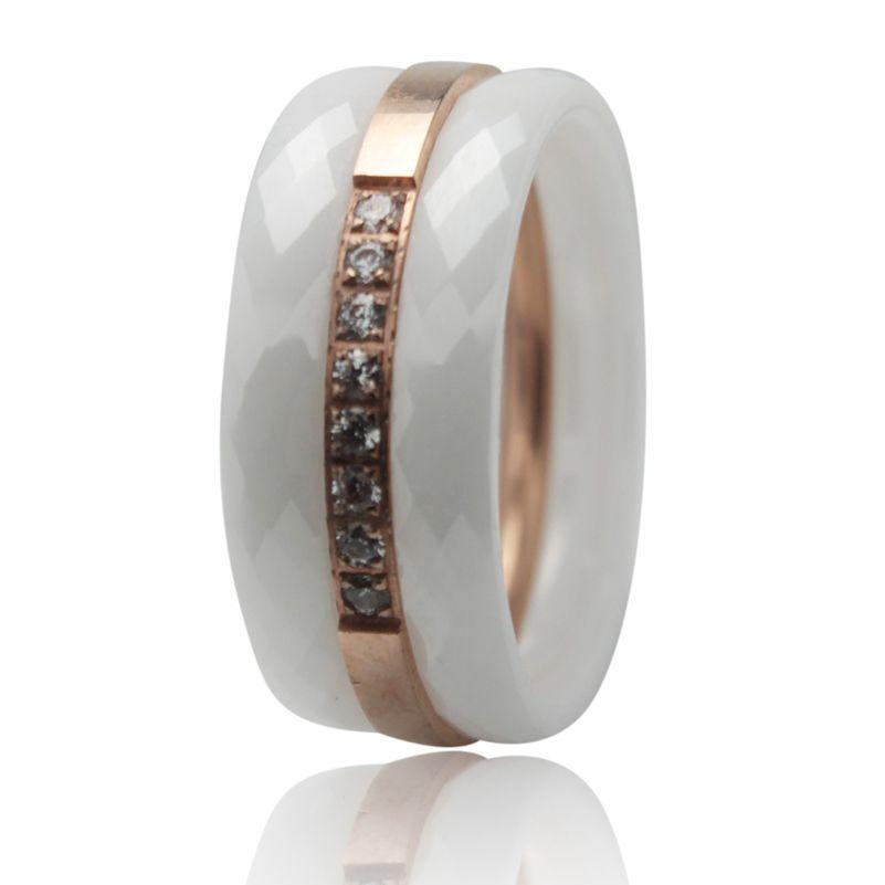 Wit zwart keramische ring voor vrouwen en mannen gepersonaliseerde keramische titanium romantische ring 2017 mode-sieraden top ring