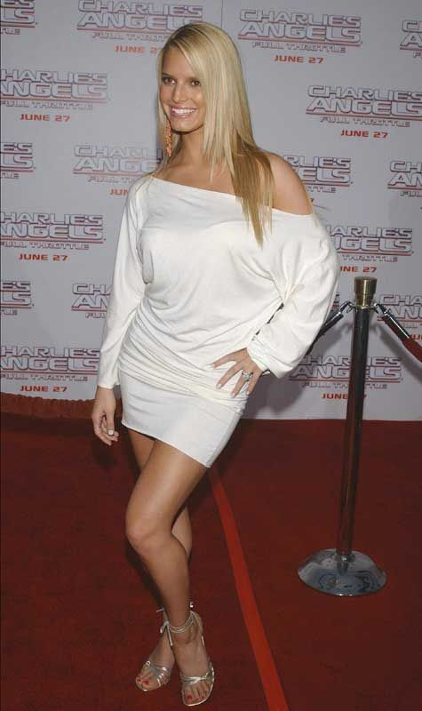 Jessica Simpson Charlie's Angels Premiere At Grauman's Chinese Theatre In  Hollywood June 18 2003