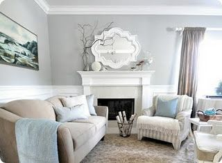 Light Grey Walls White Trim Love The Mirror