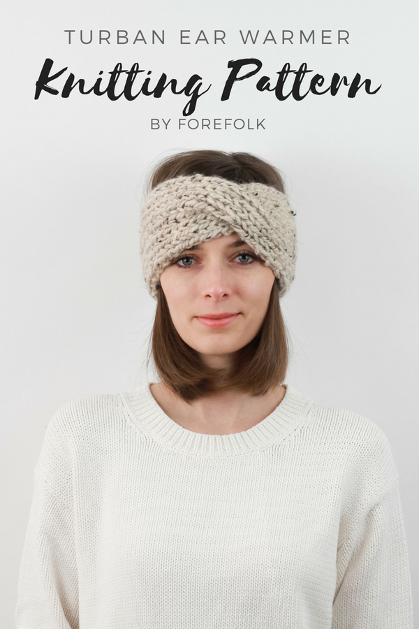 Knitting Pattern | Knit Headband, Ear Warmer, Turban Style, Easy ...