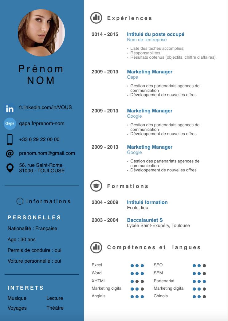 télécharger exemple cv moderne 2015 Exemple cv, Exemple