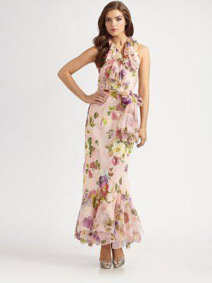 ec86d6a417e2 Ralph Lauren Blue Label Floral Silk Organza Dress $1,298 | wedding ...