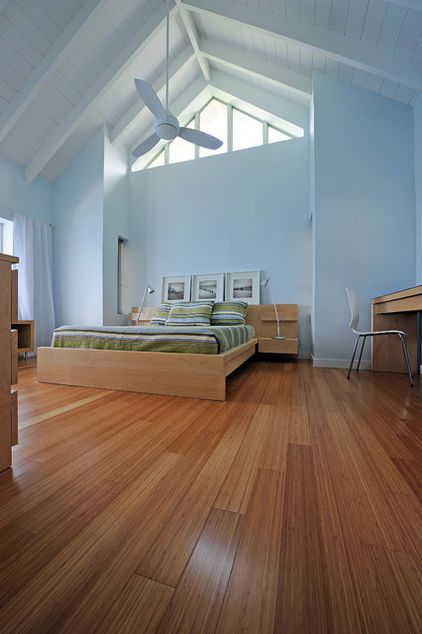 Pale Sky Blue Walls Contrast With Great Wood Floors And Grand