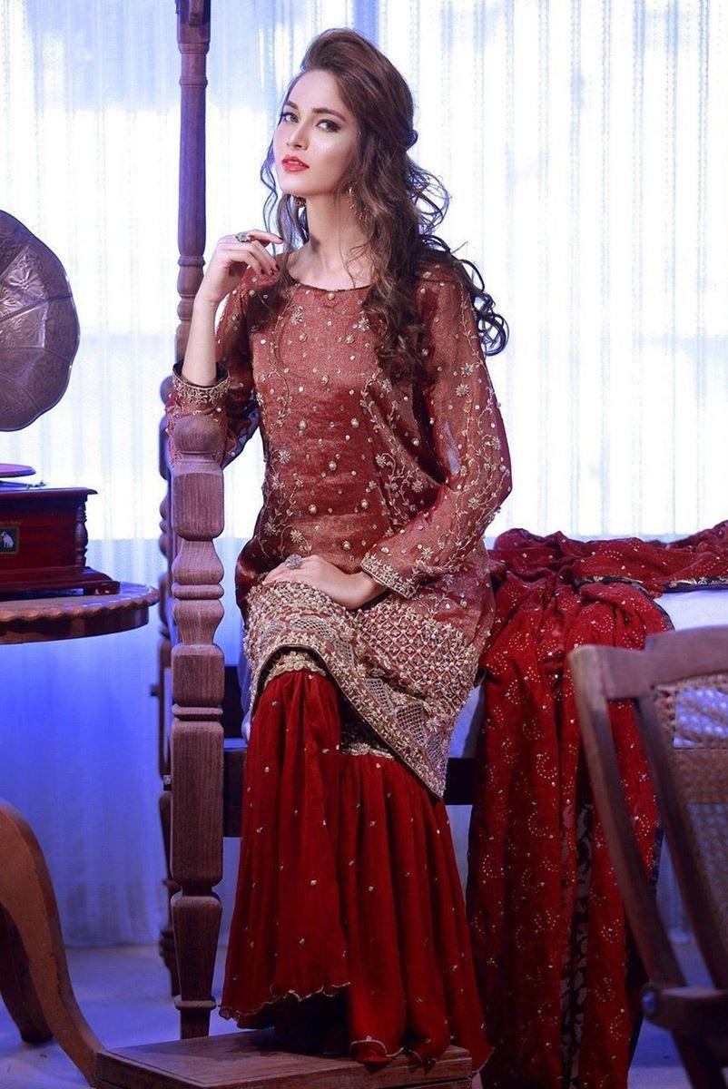Ruby Red Luxury Pret Formal Pakistani Wedding Dresses by Phatyma ...