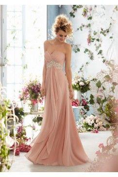 Elegant Sweetheart Chiffon Wedding gown