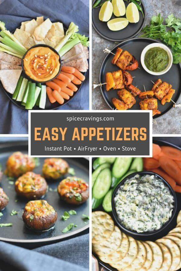 Easy Appetizers Instant Pot Vegetarian appetizers