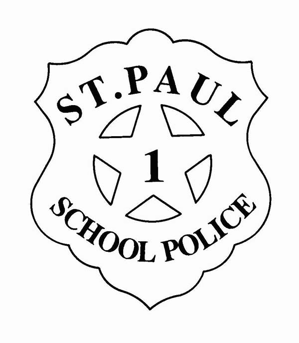 St Paul School Police Badge Coloring Page : Coloring Sky
