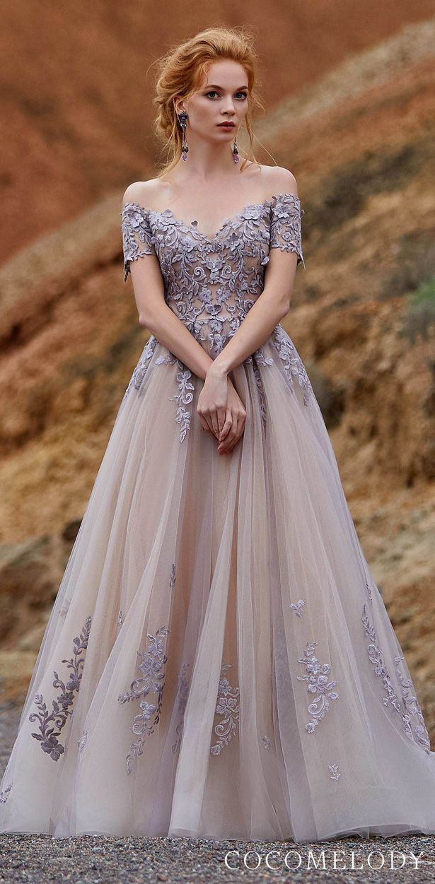 For the Modern Bride Colored Wedding Dresses by