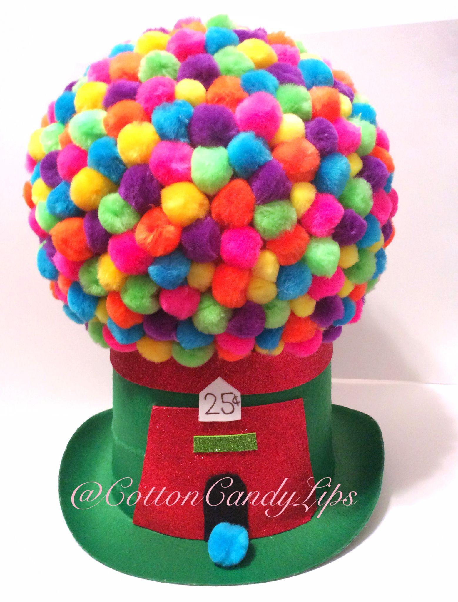 Crazy Hat Day Gumball Machine Hat @CottonCandyLips