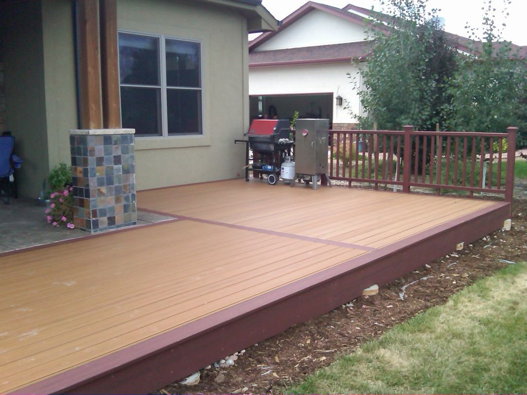 Exterior Admirable Cozy Outdoor Lounge Area Home For Trex Decking