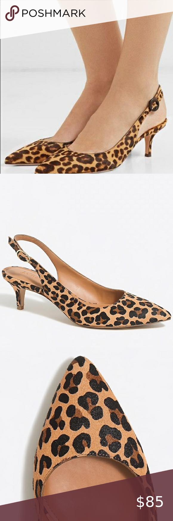 J Crew Esme Calf Hair Leopard Kitten Heels In 2020 Shoes Women Heels Heels Kitten Heels