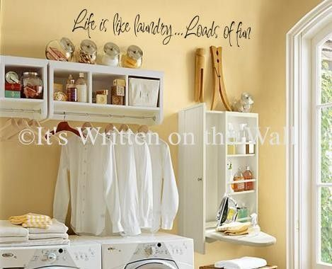 Life is like laundry....loads of fun Perfect for your laundry room ...