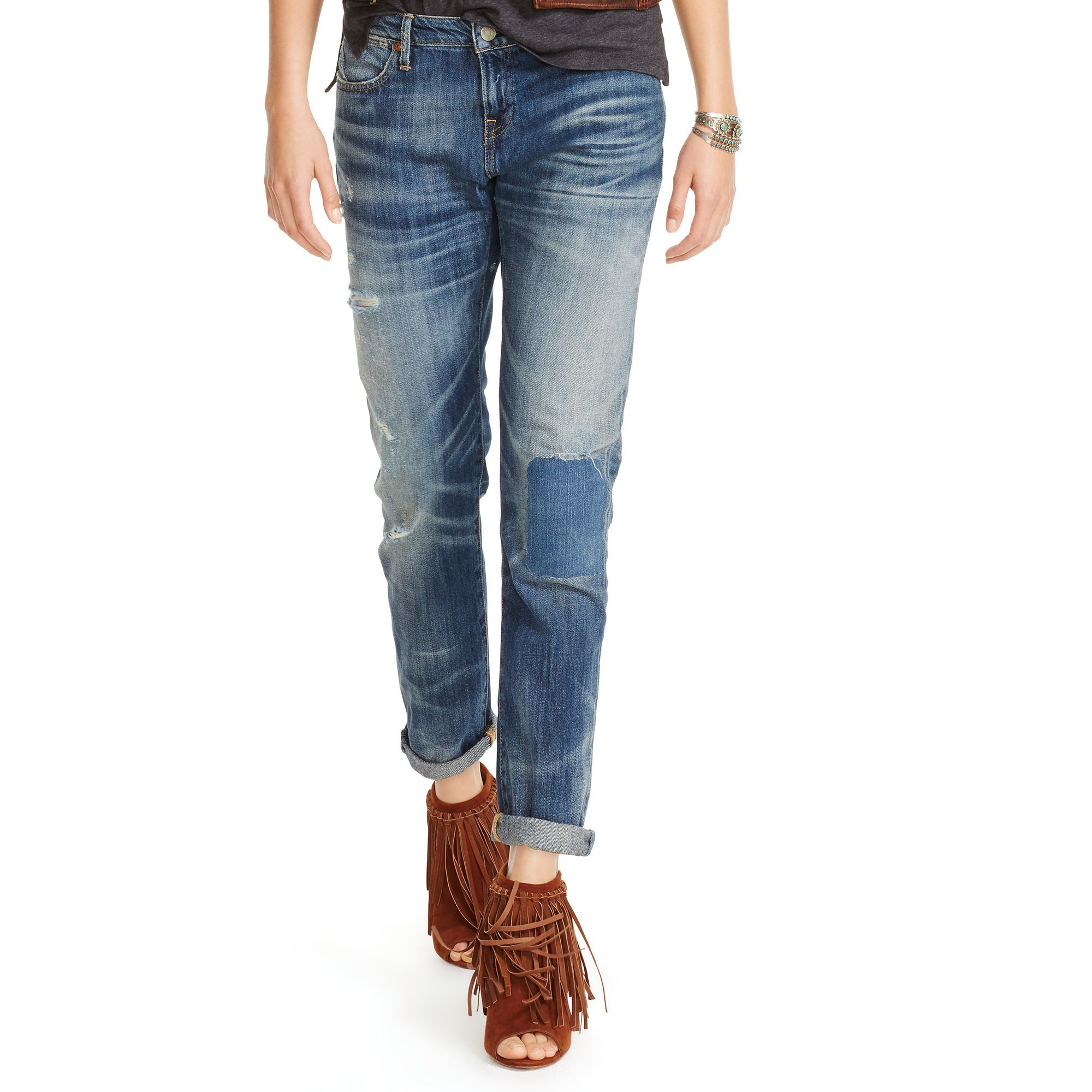 Polo Ralph Lauren Slim-Fit Boyfriend Jeans, Jettson Paint