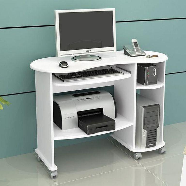 21 Top Modern Computer Desk Designs In White Color Designideas Designerjewelry Designsforlivingroom Modern Computer Desk Computer Desk Design Desk Design
