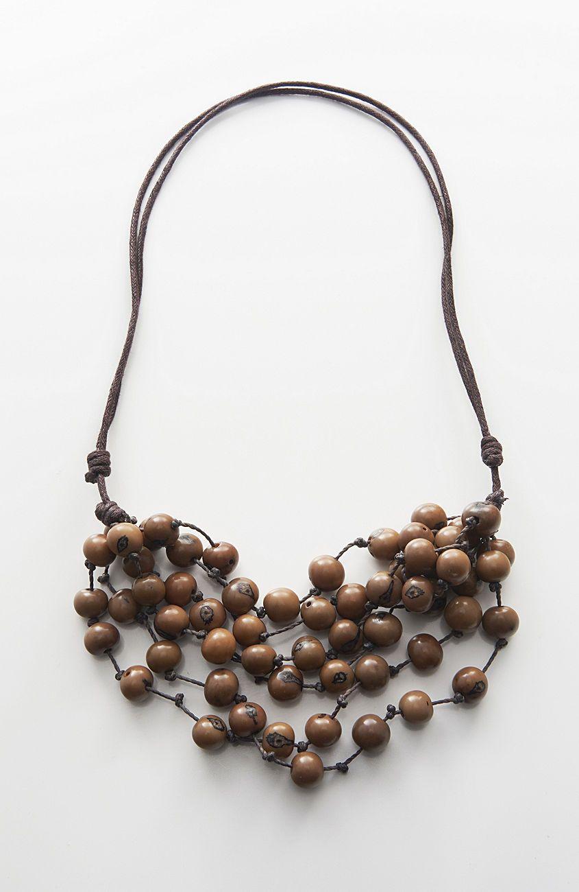 Pure Jill acai beads necklace from J.Jill