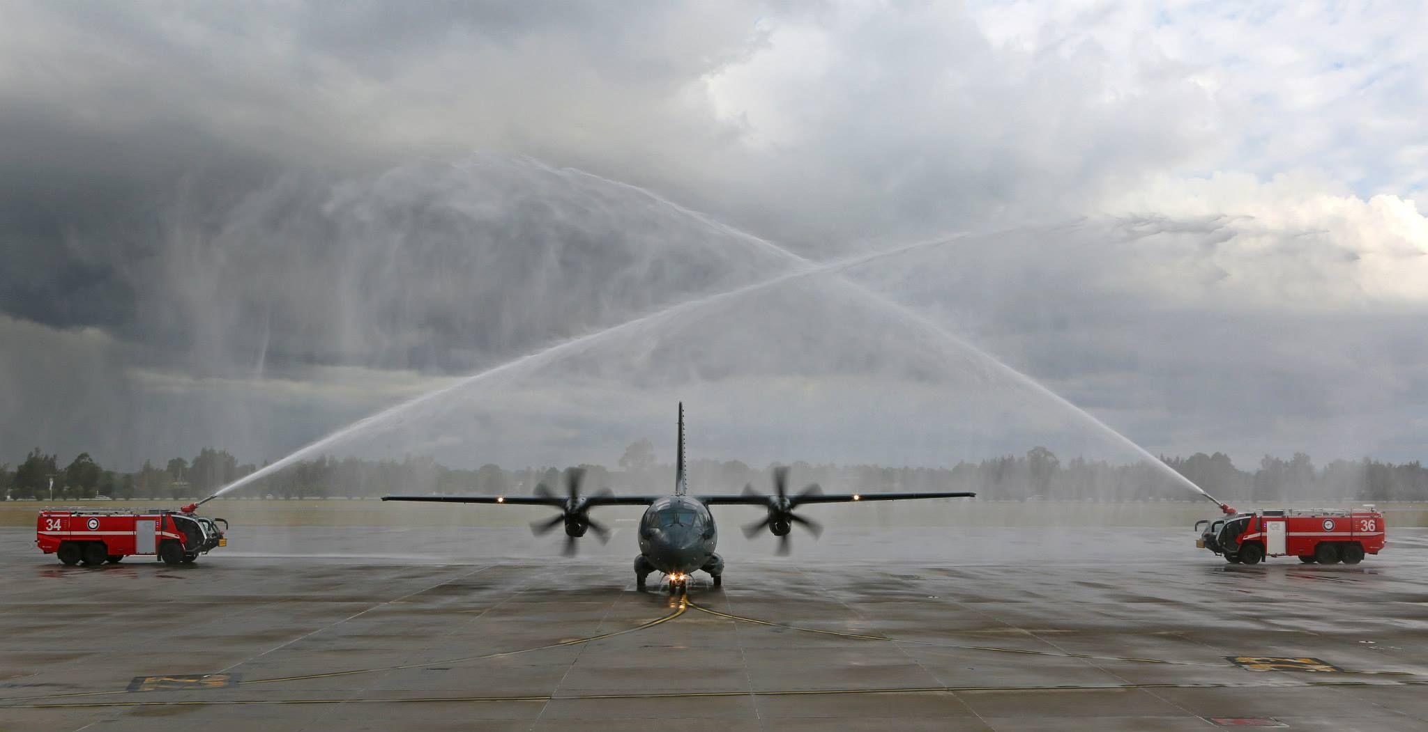 The first RAAF C27J Spartan is to RAAF Base