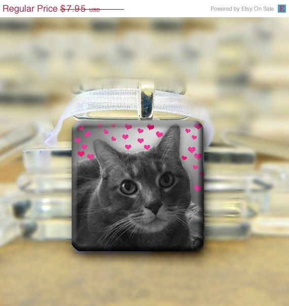 SALE Personalized  Photo Glass Pendant with by glitteringdreams, $6.76