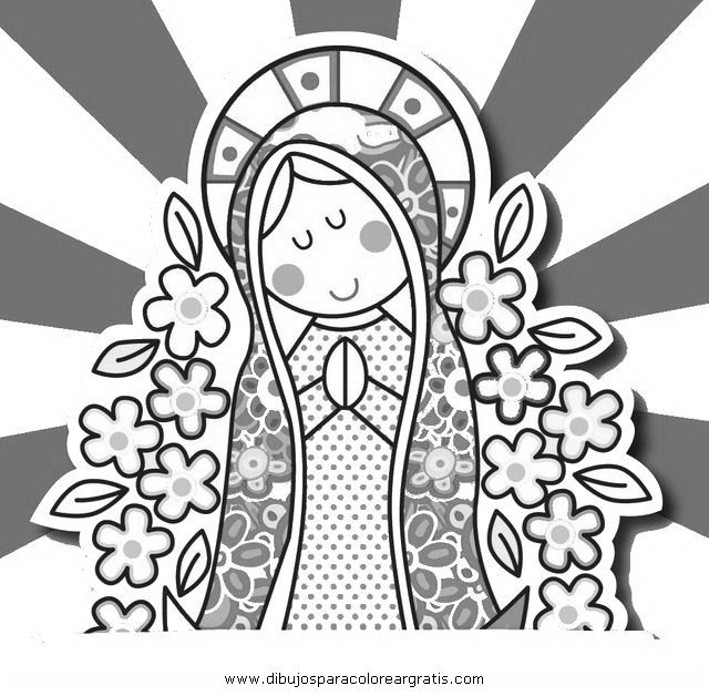 Dibujos de virgencita distroller para colorear - Imagui   imagenes ...