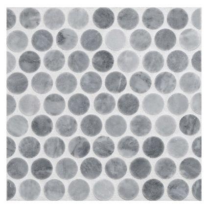 Marble Penny Tile For Backsplash Penny Rounds Mosaic Tile Honed Bardiglio Marble Grey Bathroom Tiles Penny