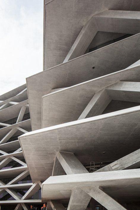 One Airport Square, Accra, 2015 - MCA - Mario Cucinella Architects #concrete #design #construction