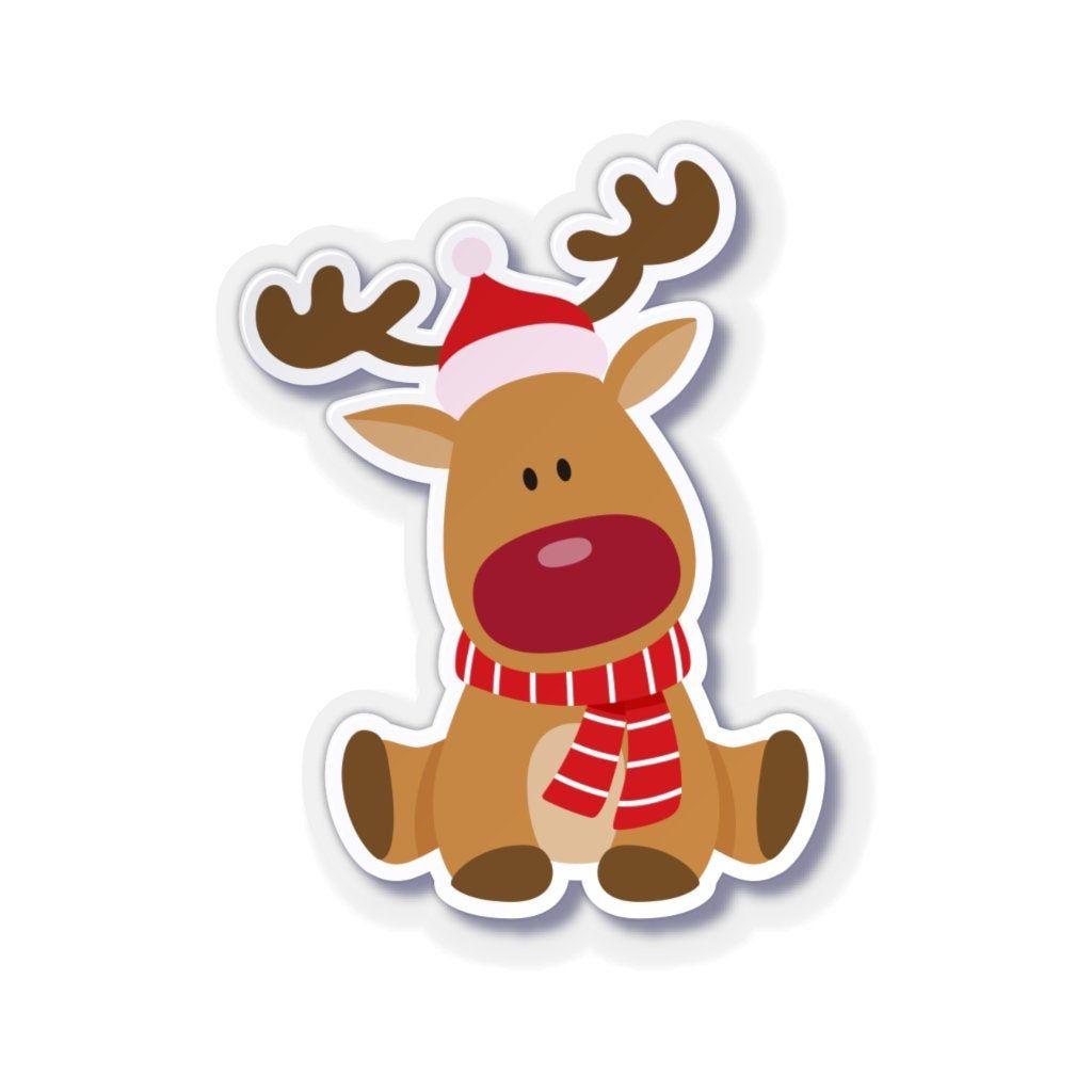 Christmas Rudolph Deer Reindeer Sticker Red Nosed Reindeer Etsy In 2021 Christmas Stickers Xmas Sticker Disney Christmas Decorations