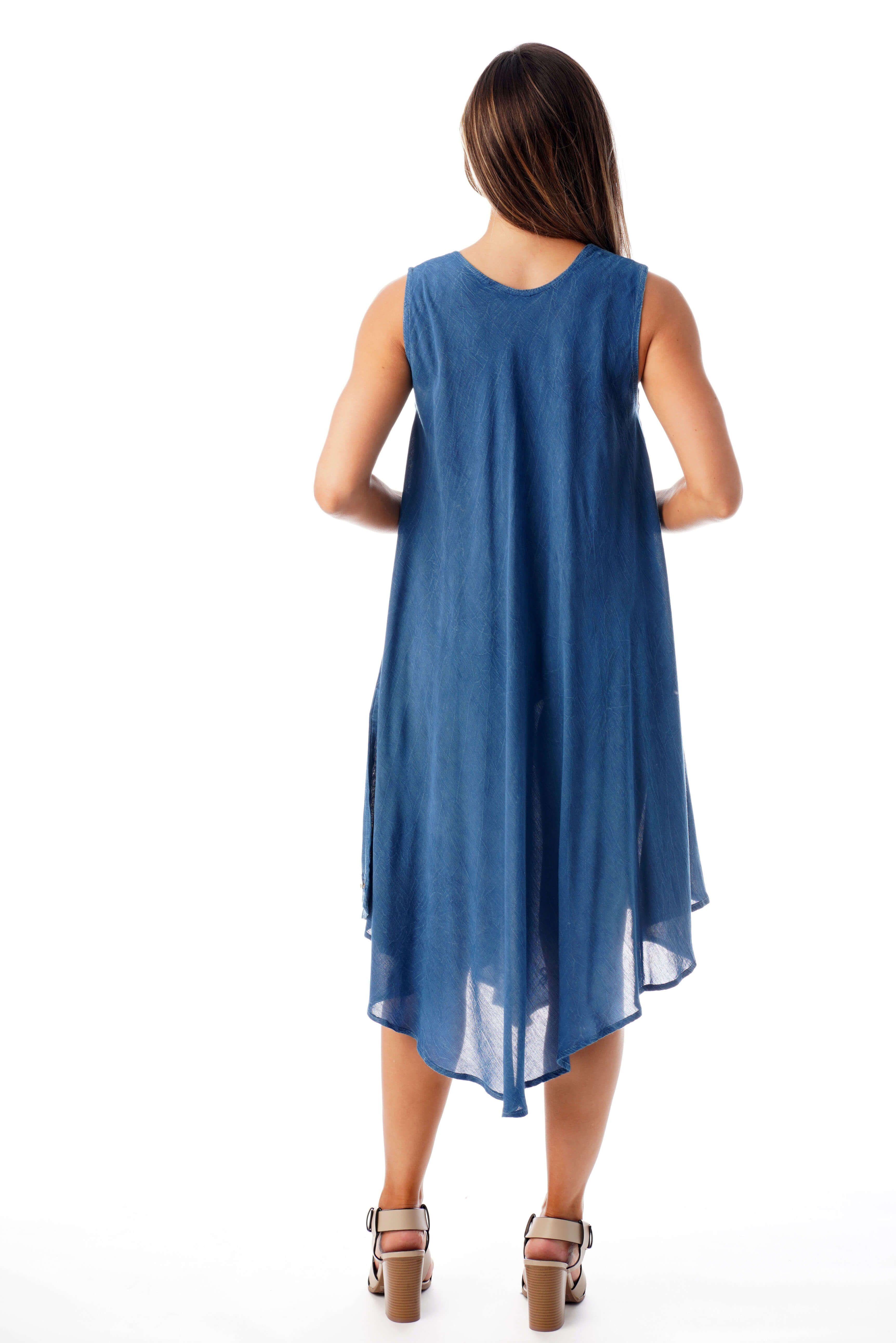 Riviera Sun 21660 Nvy M Riviera Sun Dress Dresses For Women Walmart Com Embroidered Summer Dress Womens Dresses Sundresses Women [ 5168 x 3448 Pixel ]